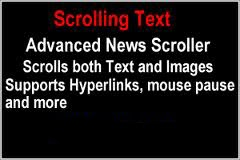scrolling text