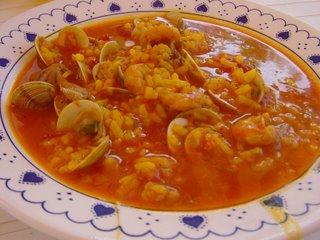 Comandas en pol polis arroz caldoso con gambas y almejas - Arroz con gambas y almejas ...