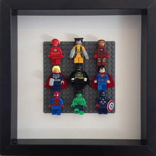 Lego Super Hero Shadow Box
