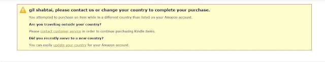 "error message: ""please contact us or change your country to complete your purchase"""