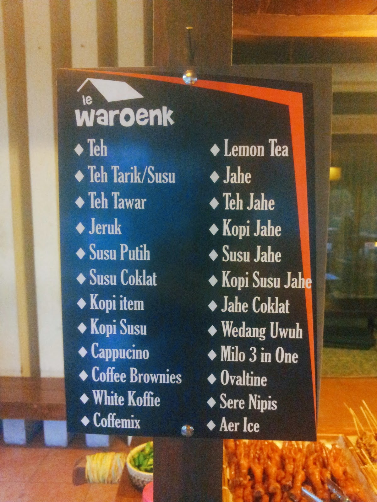 menu at Le Waroenk Jogja - rindumiu.blogspot.com