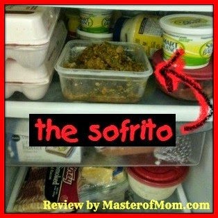 Sofrito in the fridge