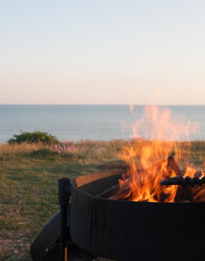 A fire on the cliff above the Beach - Burton Bradstock Beach - Hive Beach House, Dorset