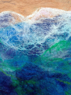 Wet felted Play Scape  - The Ocean