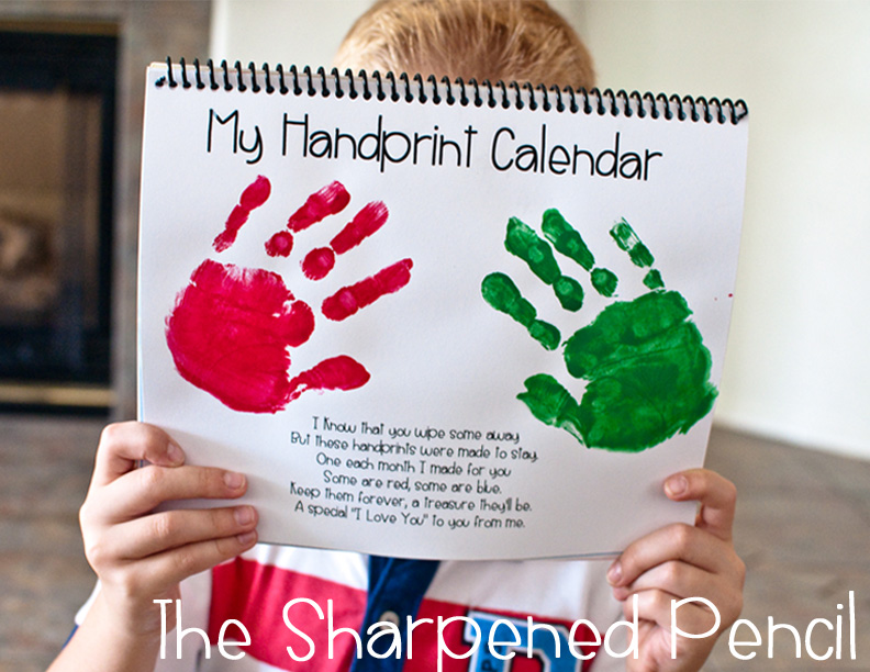 The Sharpened Pencil: Handprint Calendars!!