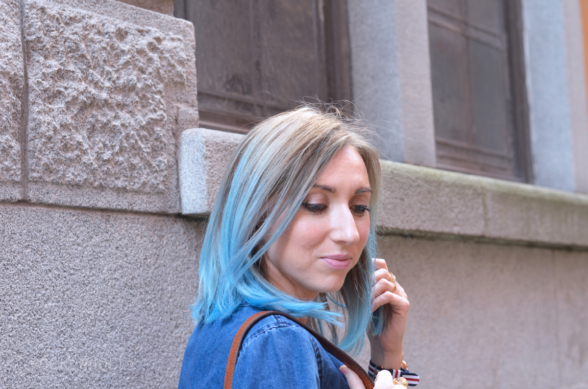Out of the Blue Hair on Rock On Holly Blog