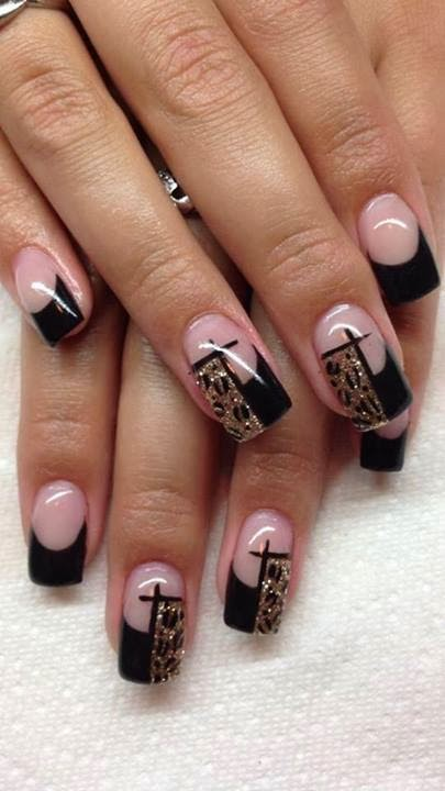 sculpted+black+acrylics+'The+Crucifix+Banner'+gold+leopard+print+as+feats+LED-polish-design-manicure-OPI-Nail-Polish-Lacquer-Pedicure-care-natural-Gel-Nail-Polish-beauty-tips-Acrylic-backfill-+Nails-Nail-Art-USA-UK