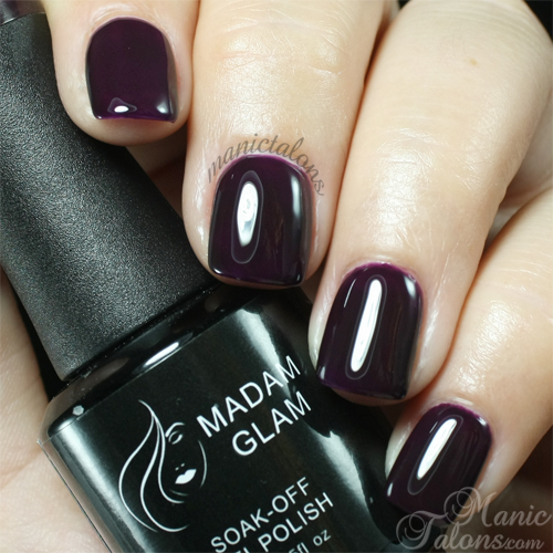 Madam Glam Gel Polish #334 Sexy Purple Swatch