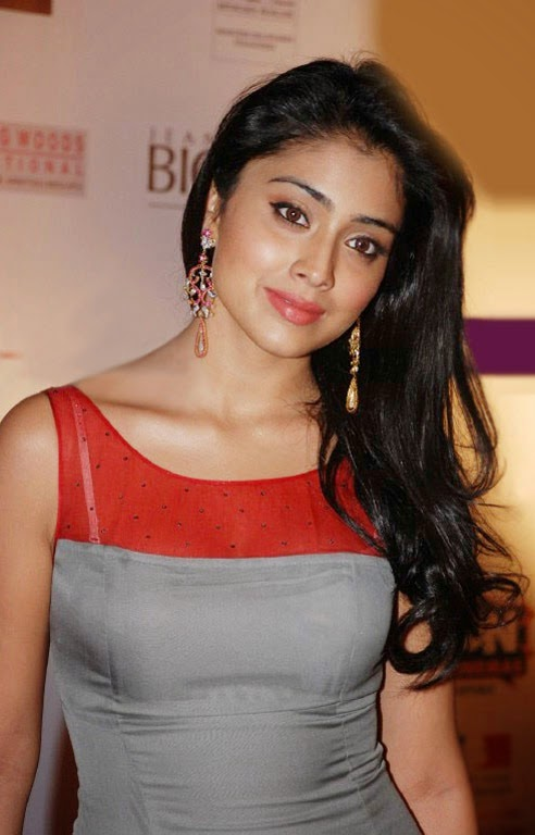 Shriya Saran hot unseen rare Cleavage Pics in Pink Skirt nips visible pics