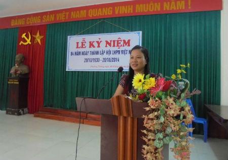 Thường Thắng kỷ niệm ngày thành lập Hội LHPN Việt Nam