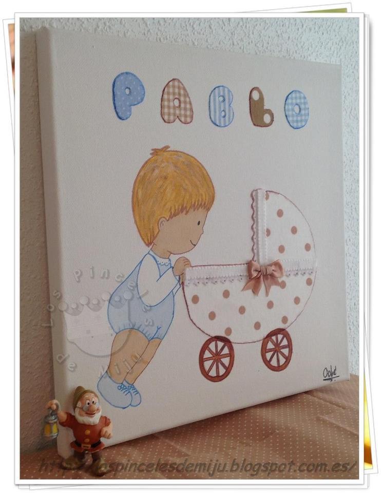 Los pinceles de miju cuadros infantiles personalizados y originales