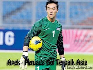 Apek penjaga gol terbaik Asia