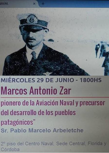 Conferencia sobre el Vicealmirante Dn. Marcos Antonio Zar