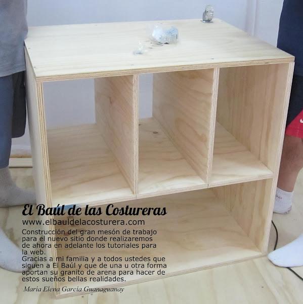 Mesa o banco de trabajo para costura - Mesas para costura ...