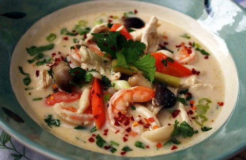 Coconut Soup With Shrimps And Chicken