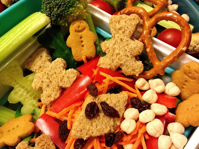 Bento box teddy bears picnic salad packed lunch