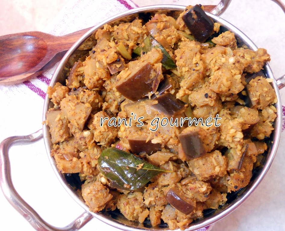 thoran brinjal thoran eggplant thoran egg plant thoran heat the oil in ...