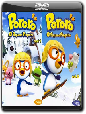 Pororó - O Pequeno Pinguim - Vol.01 e 02 DVD-R Dual Áudio