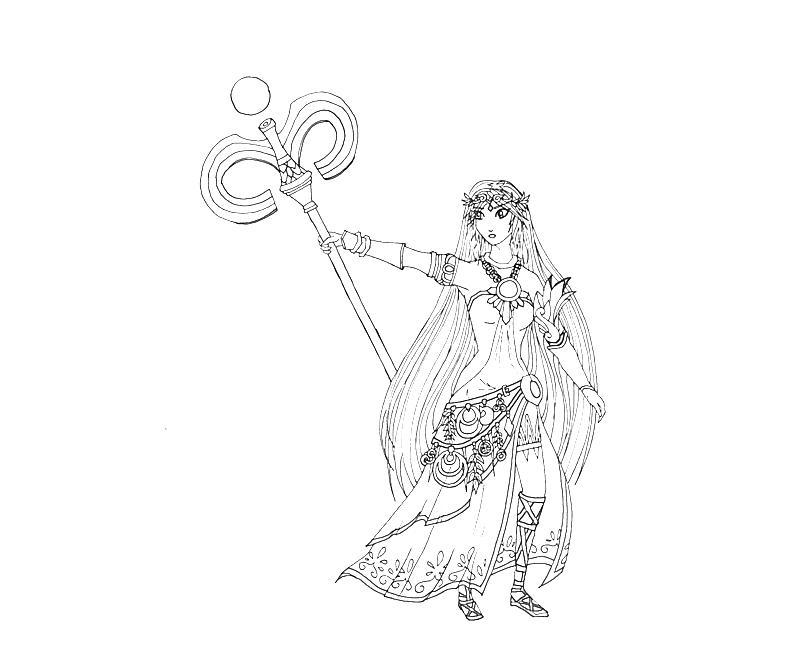 Kid Icarus Coloring Pages