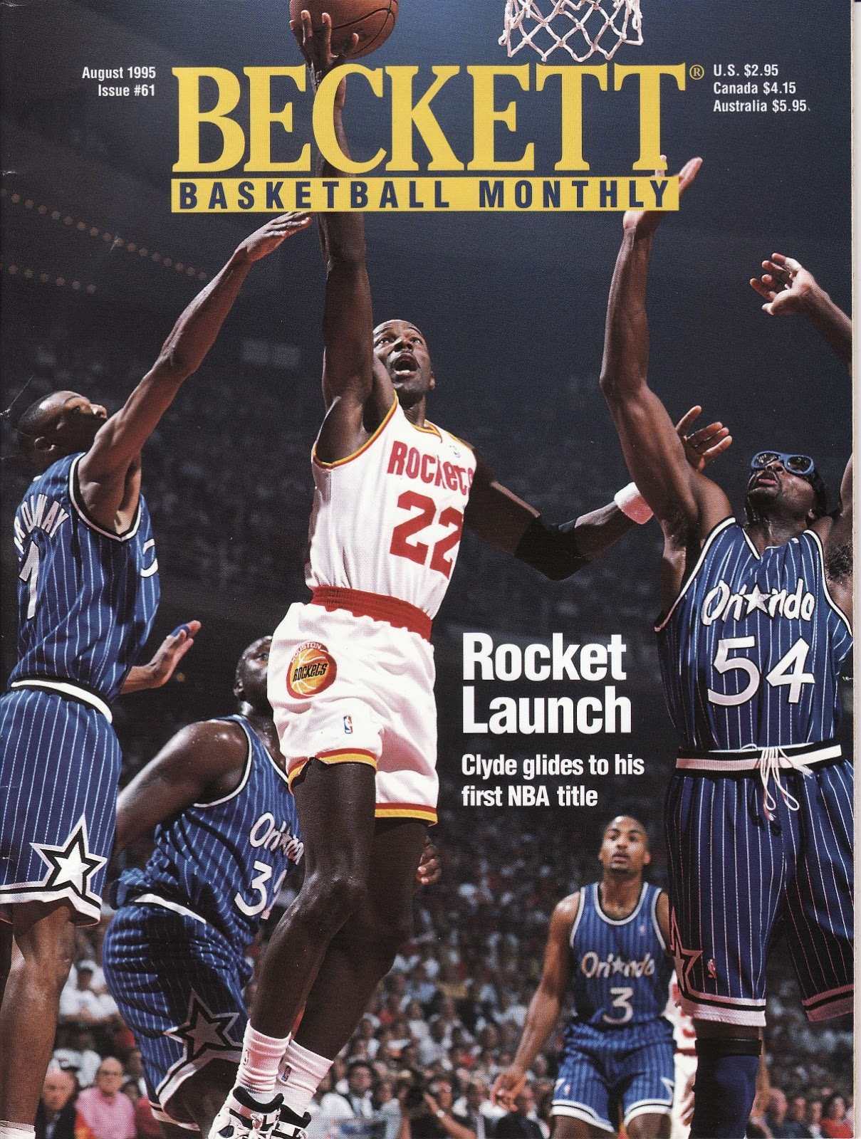 Clyde Drexler from Beckett Basketball Monthly