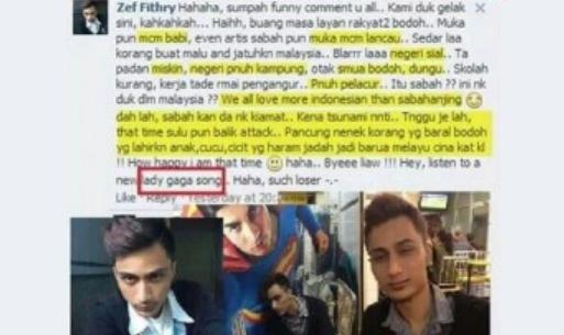 Pengguna Facebook Kutuk Sabah Untuk 'Bergurau' Cetuskan Kemarahan