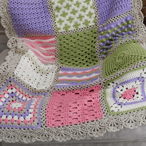Crocheting Guide : Crochet Guide: Crochet Sampler Afghan