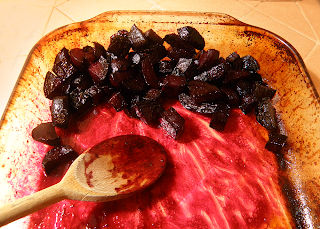 Roasted Glazed Beets in Baking Pan
