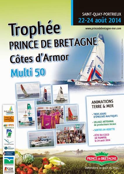 Les Multi50 ont rendez-vous au Trophée de Saint Quay Portrieux.