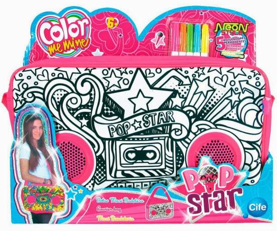 JUGUETES - COLOR ME MINE Bolso Maxi Bandolera | Pop Star Producto Oficial | Cife | A partir de 6 años