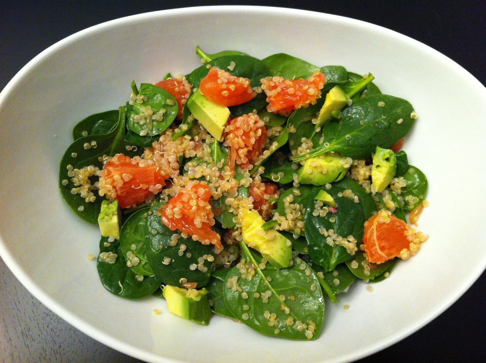 Spinach And Quinoa Salad With Grapefruit And Avocado Recipe ...