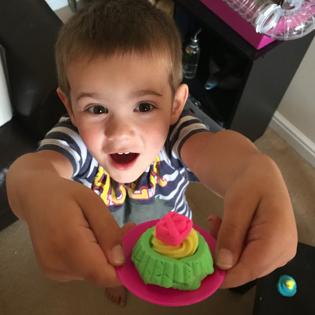 Kid with Playdoh