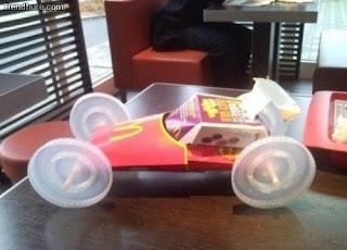 rennauto aus mcdonalds müll gebaut
