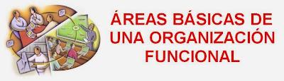 areas basicas de una organizacion funcional