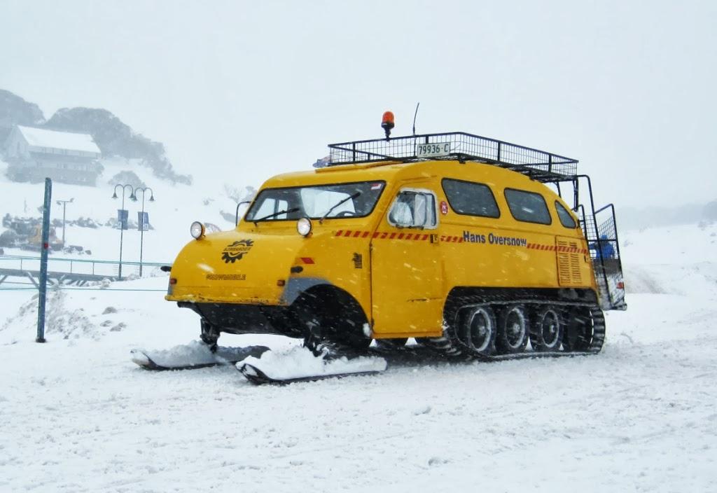 Australian alpine oversnow equipment bombardier