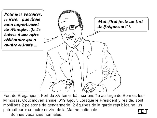 Hollande part en vacances à Brégançon