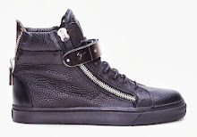 I Need This: Giuseppe Zanotti Black Velcro Bar Sneakers