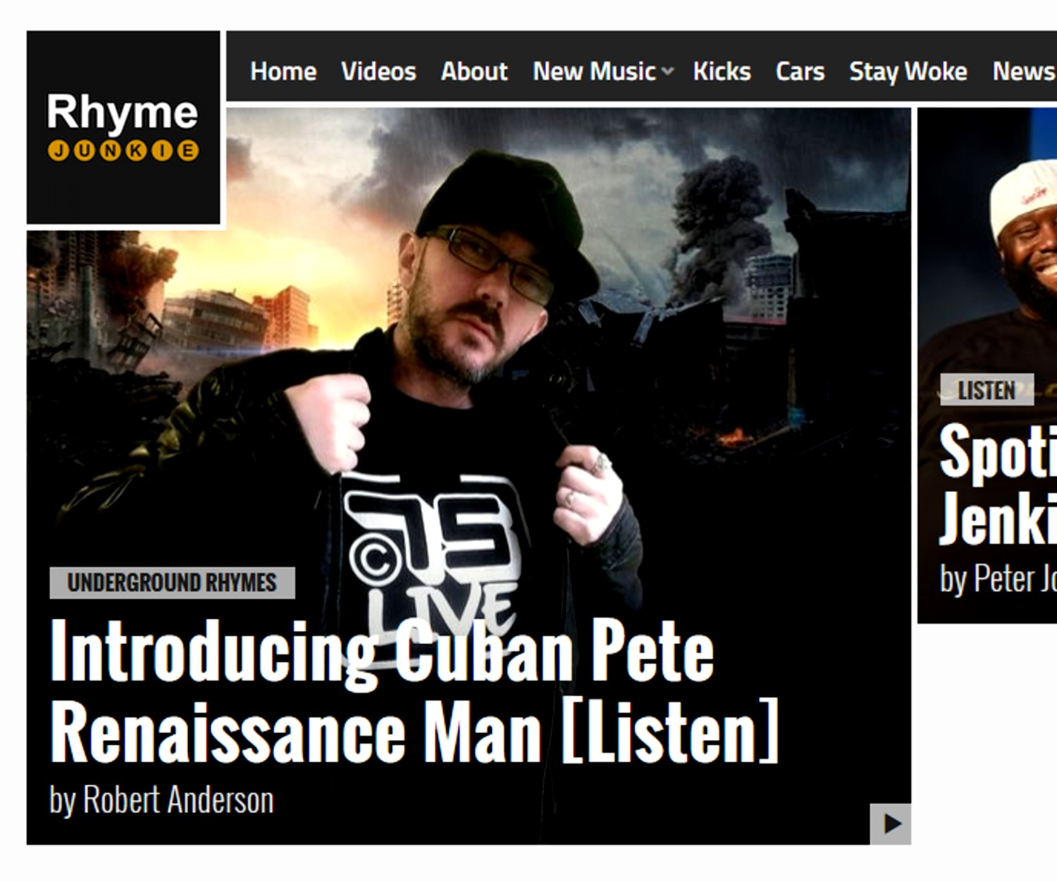Cuban Pete on RhymeJunkie.com