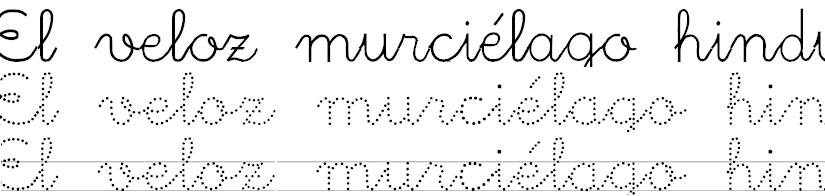 Chuletas tic fuentes de caligraf a infantil - Fuente letra infantil ...