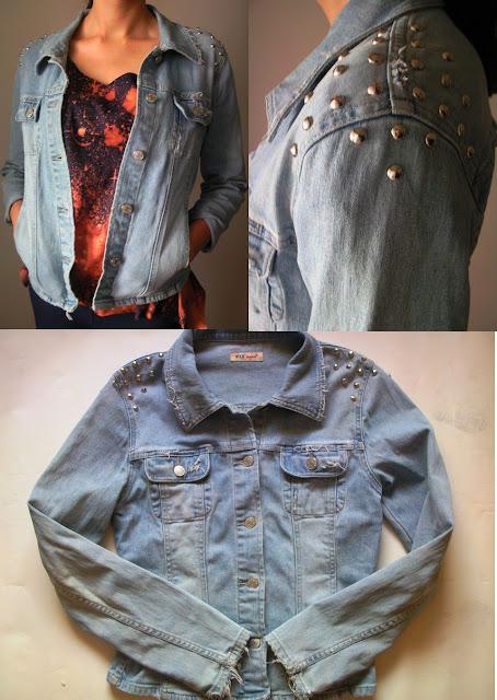 diy ćwieki jeans katana rock moda styl blogerska