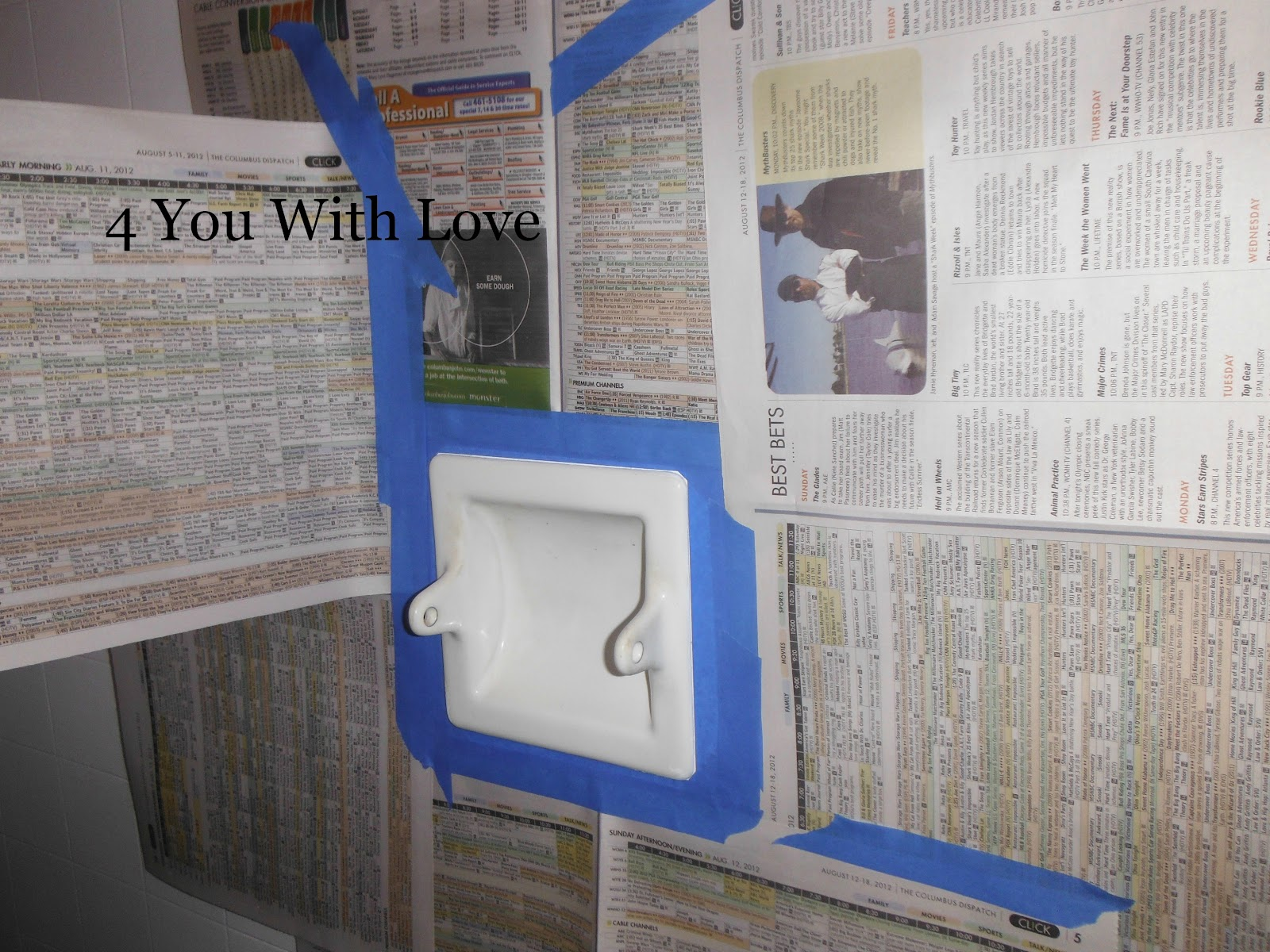 Painting Porcelain Bathroom Fixtures - 4 You With Love