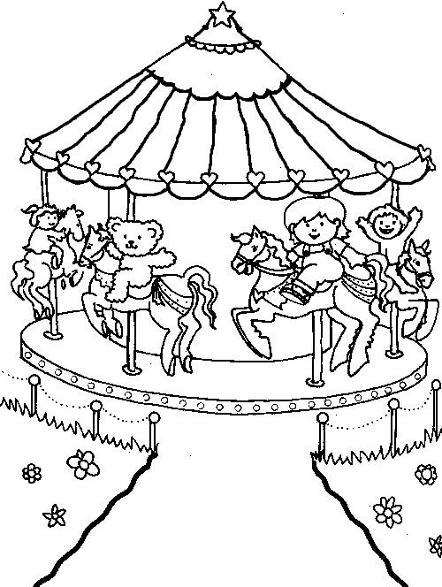 Picture miscellaneous coloring sheets amusement park for Park coloring pages