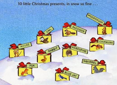 sample page #1 Ten Little Christmas Presents  by Jean Marzollo