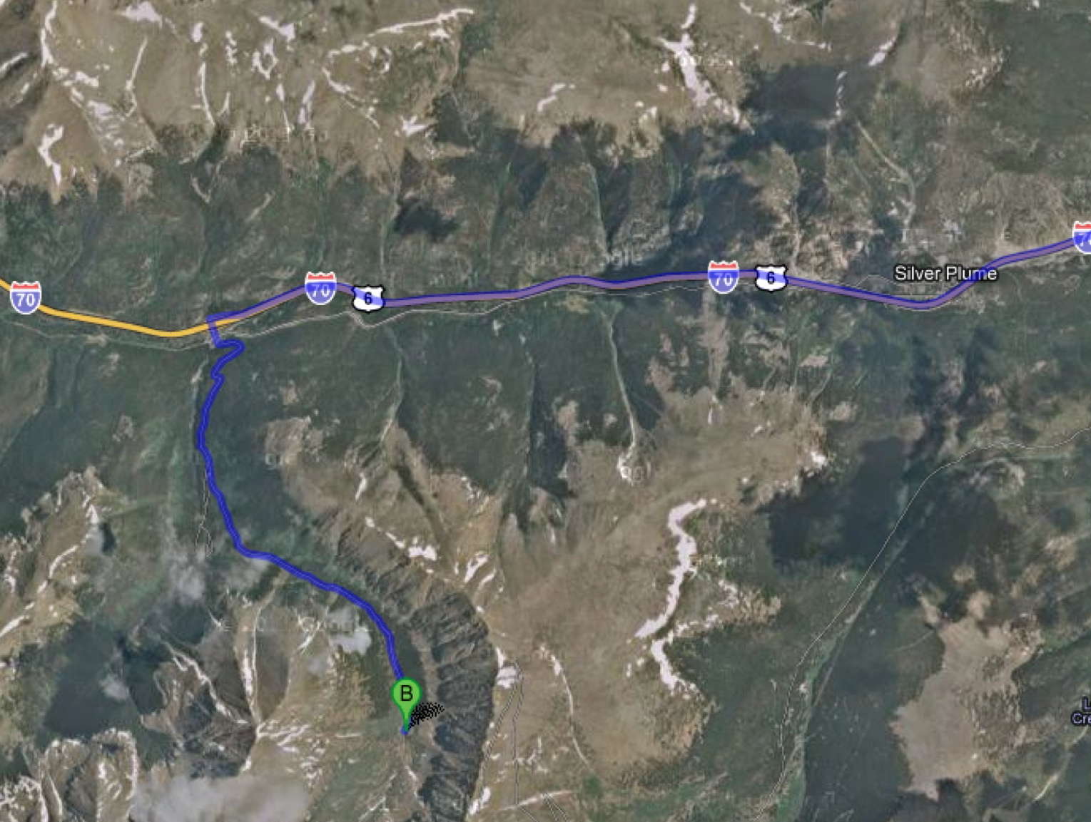 i 70 w from denver to exit 221 to gray s peak th b thanks for google maps