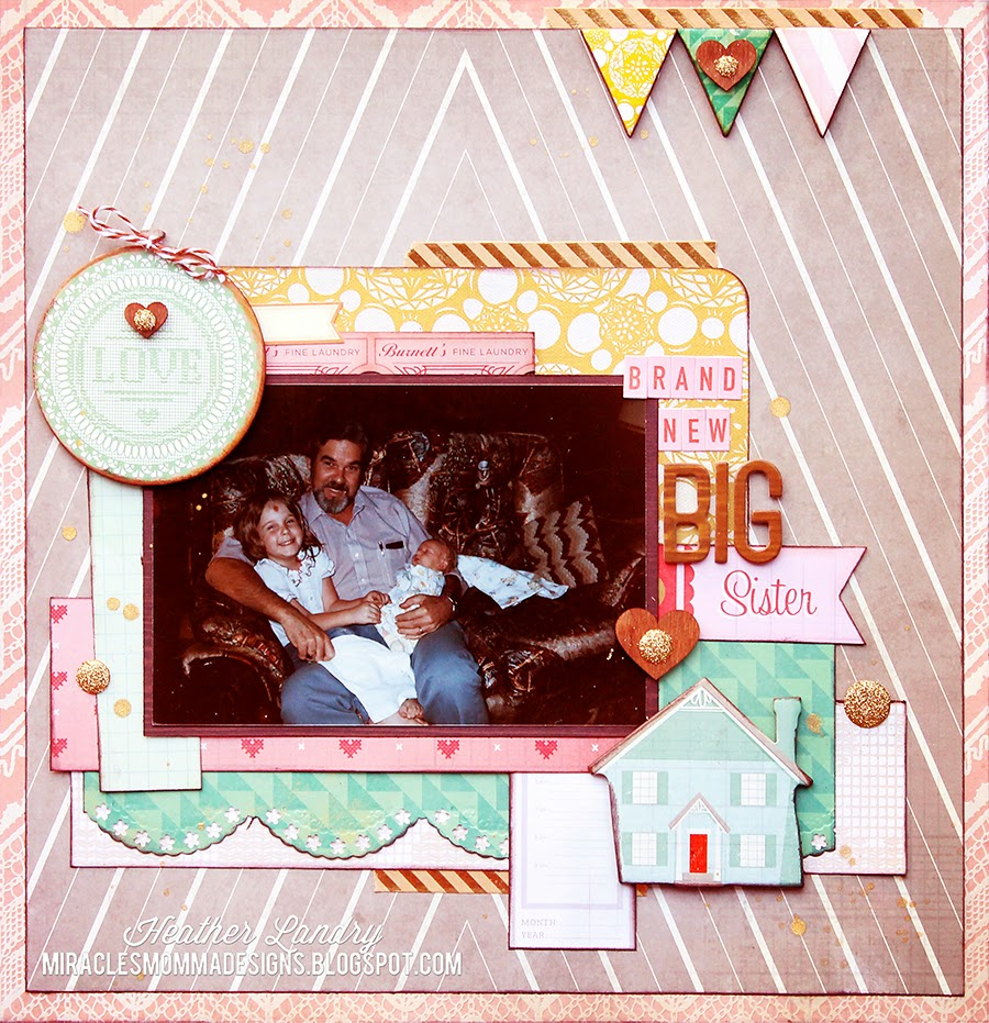 Baby Brother_Big Sister_Scrapbook Page
