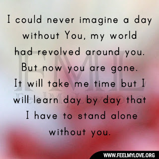 I could never imagine a day without You