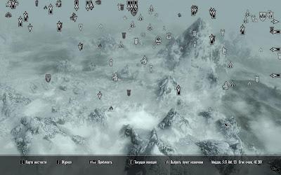 Skyrim - карта с квестами
