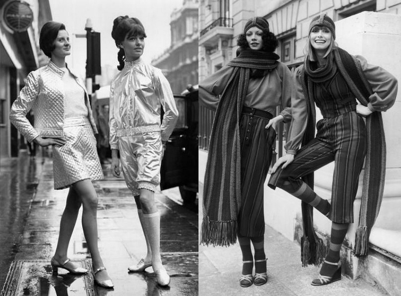 24 pictures of womens fashions in the 1960s and 1970s