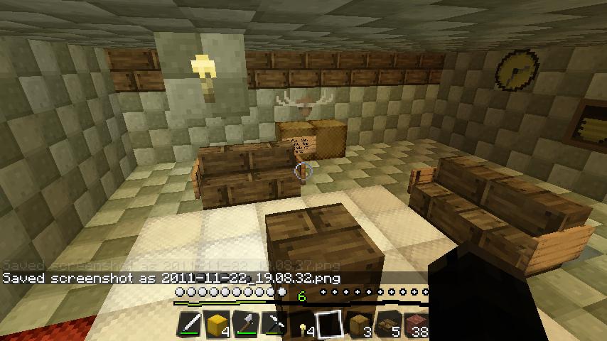Sala De Estar Minecraft ~ Apresentando minha Casa de Inverno  Em construção! (parte 1)