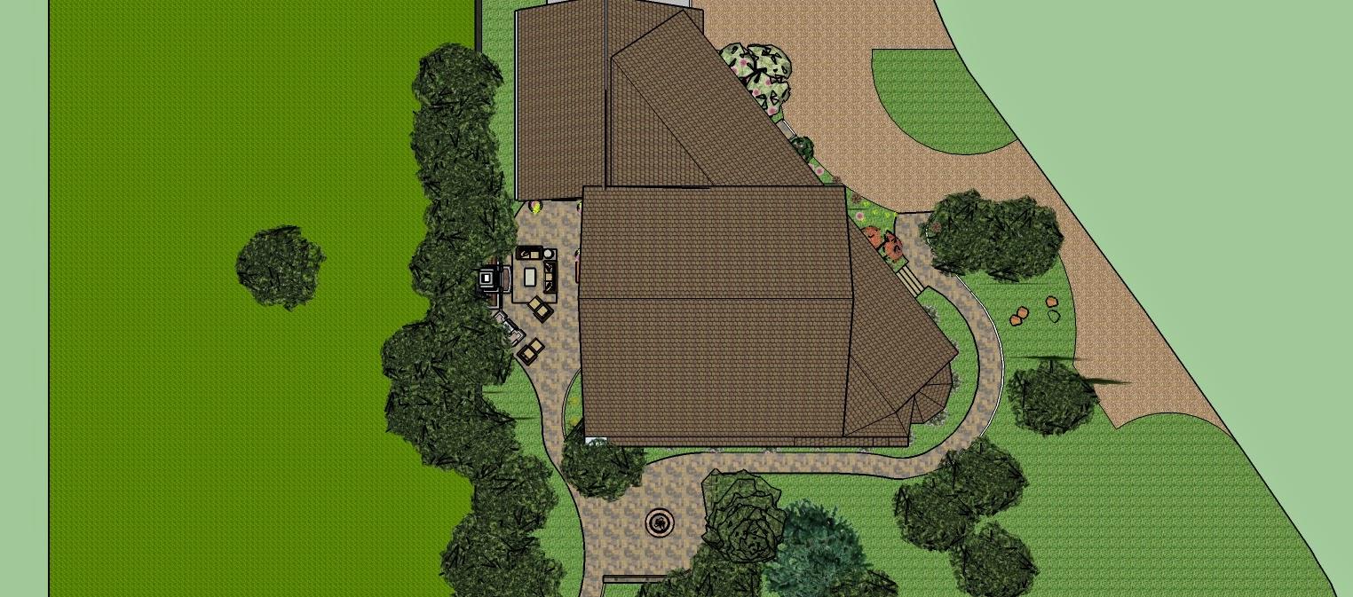 Landscape Design - Holland, MI Sketchup Camera Top View - Landscape Design Guru: Sketchup For Landscape Design