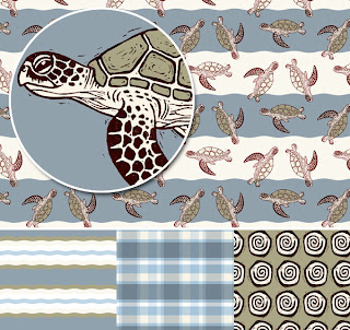 Green Turtle Surface Design Pattern